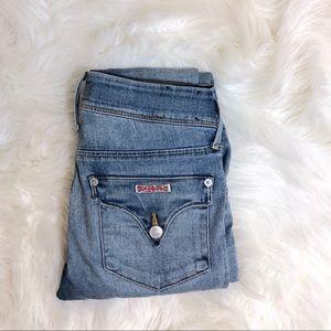 HUDSON Collin Flap Medium Wash Skinny Jeans   25
